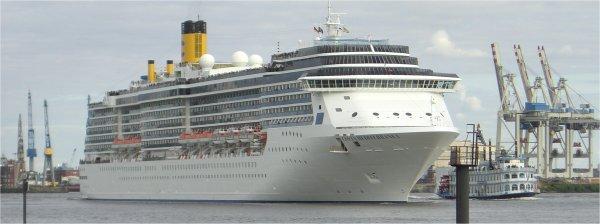 Costa Mediterranea in Hamburg und im Mittelmeer