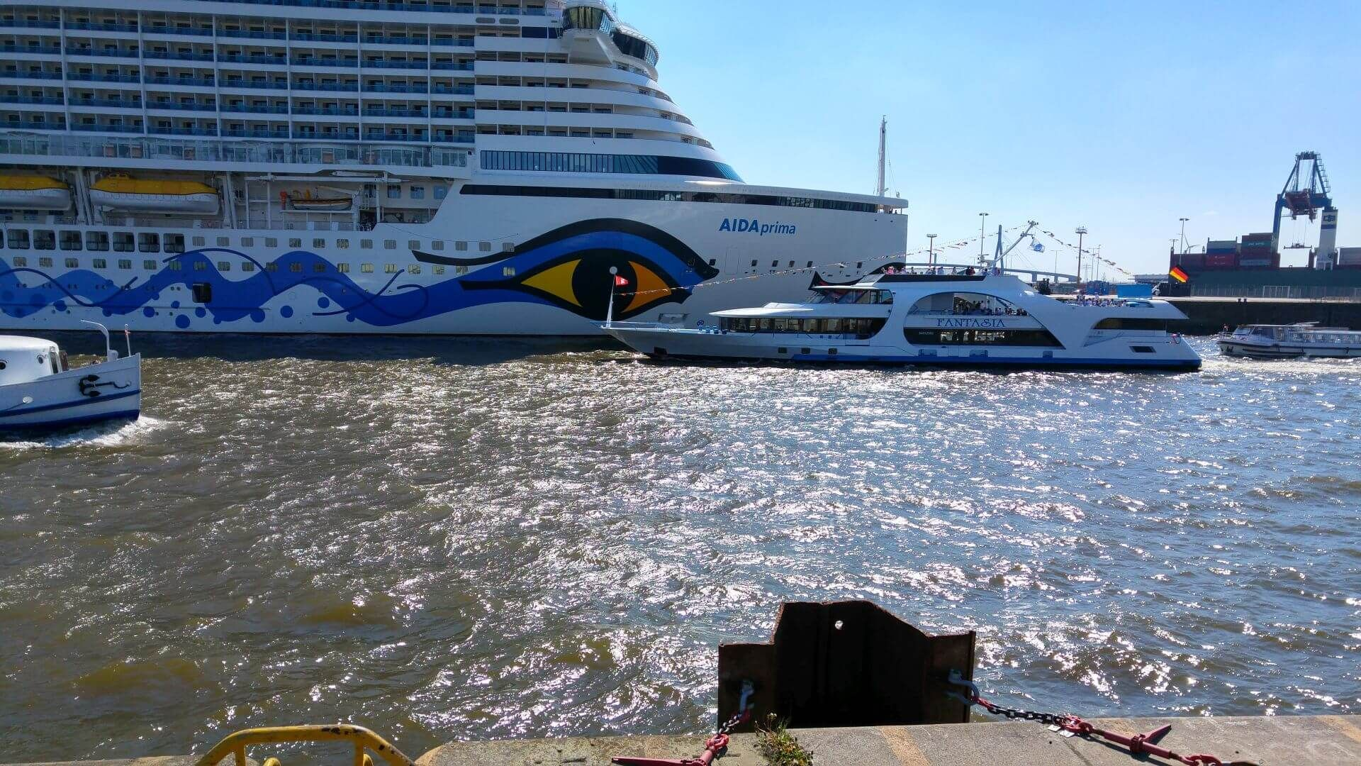Fot: AIDA in Hamburg