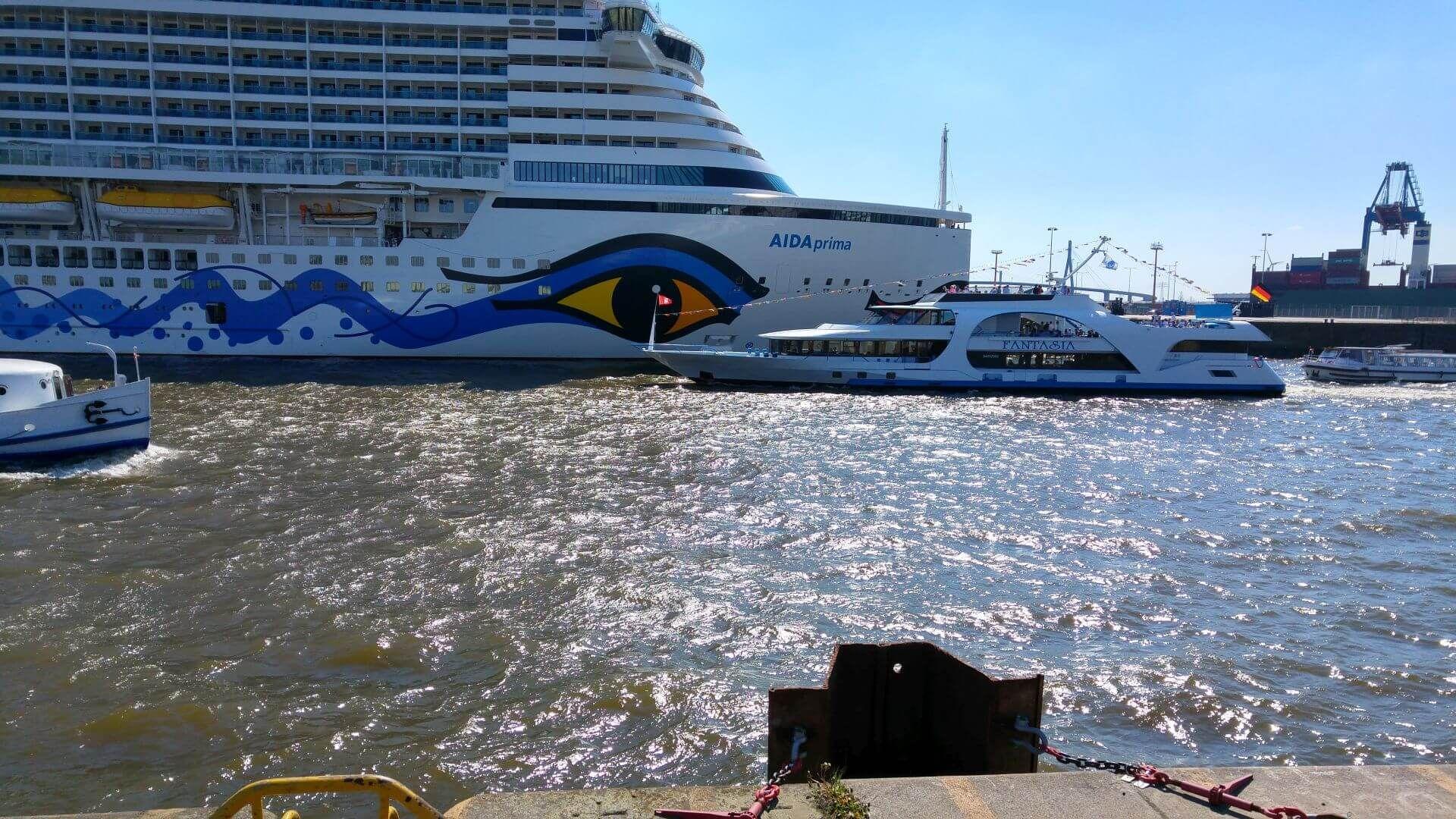 Fot: AIDA in Hamburg