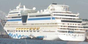 Die AIDA blu verläßt Hamburg